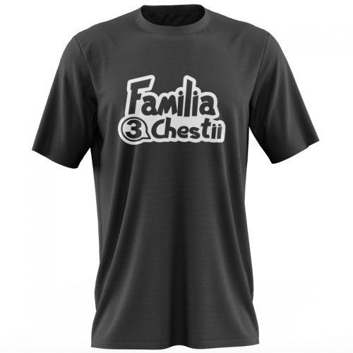 Tricou negru Familia 3chestii fata