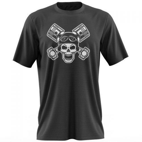 Tricou-negru-trex-skull–pistons